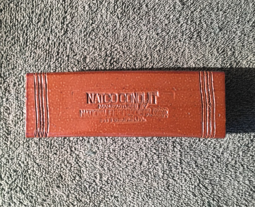 NATCO Conduit Telephone Tile Salesman Sample 3 8-31-17