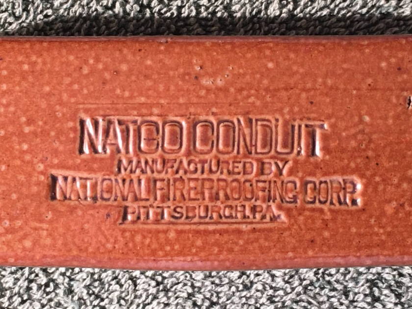 NATCO Conduit Telephone Tile Salesman Sample 9 8-31-17
