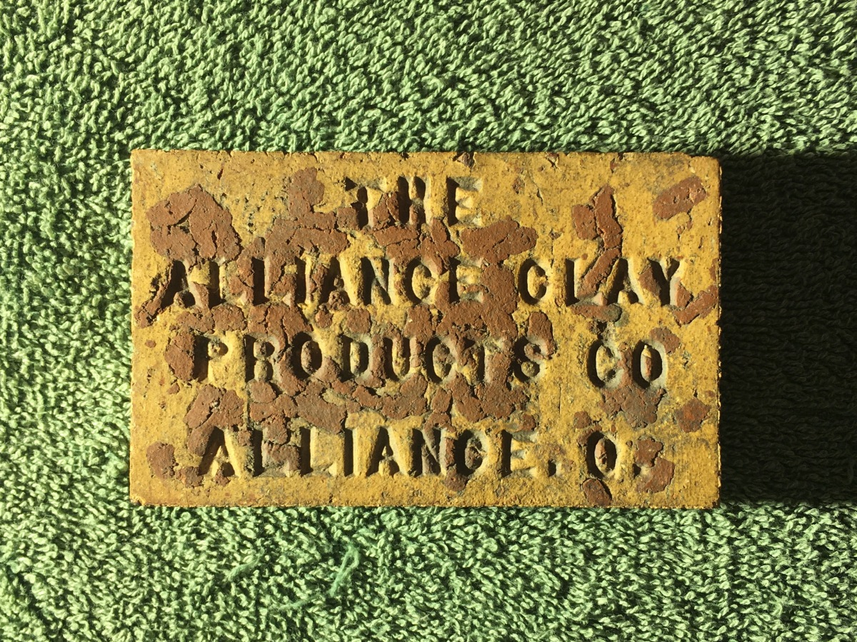 Alliance Clay Products Co SampleBrick